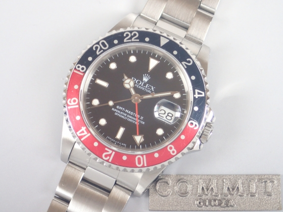 ロレックス GMTマスターⅡ 赤黒ベゼル X番