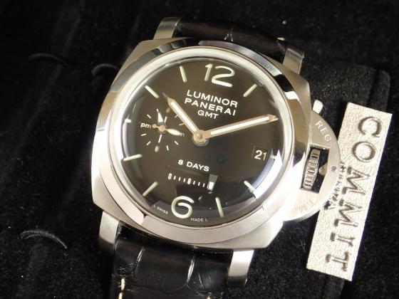 パネライ ルミノール 1950 44mm 8デイズ GMT