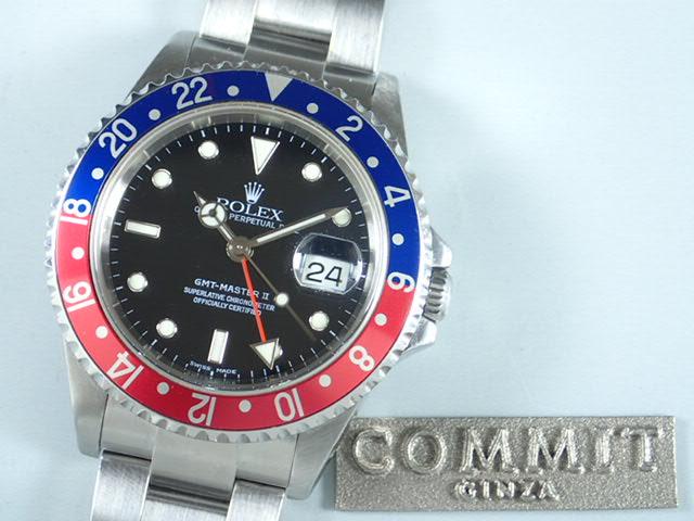 ロレックス GMTマスターⅡ 赤青ベゼル Y番