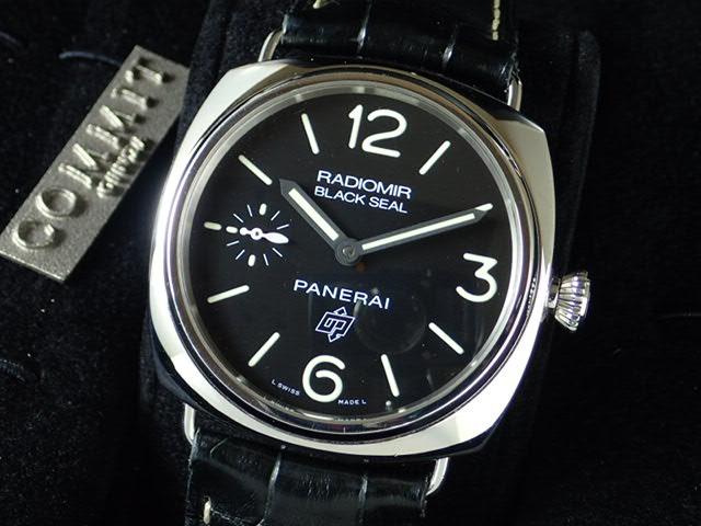 パネライ ラジオミール ブラックシール ロゴ 45mm