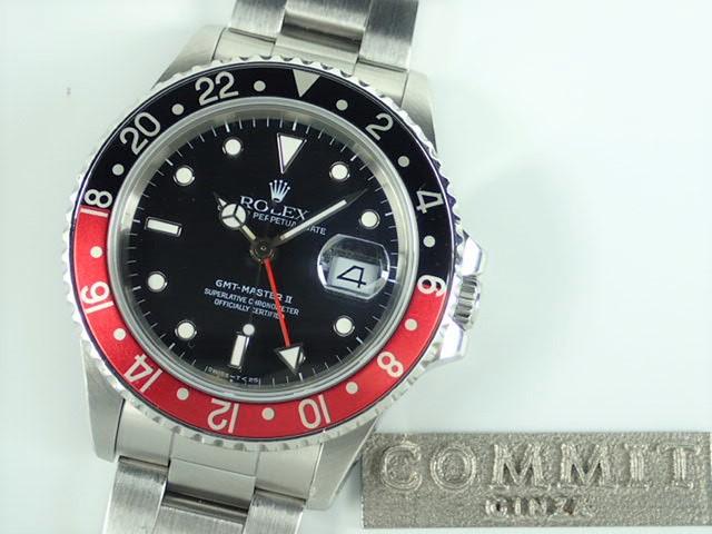 ロレックス GMTマスターⅡ 赤黒ベゼル