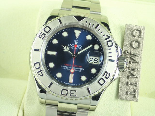 ロレックス ヨットマスター 40 ブルー文字盤