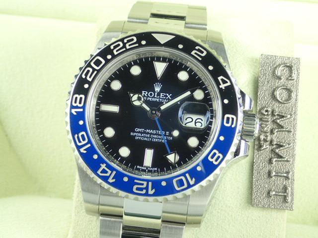 ロレックス GMTマスターⅡ 青黒ベゼル ランダム