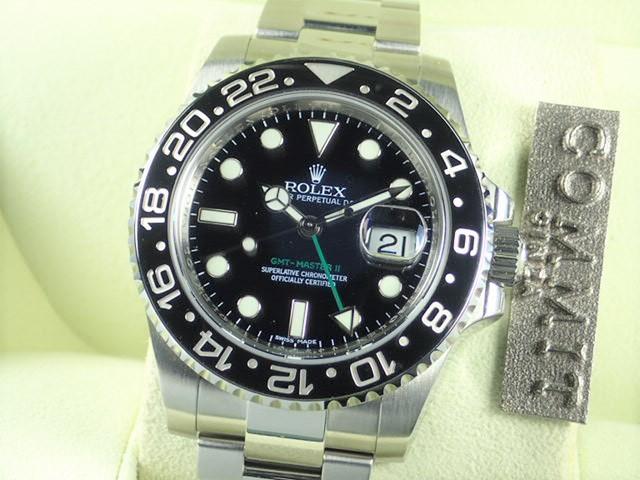 ロレックス GMTマスターⅡ 黒ベゼル V番 スティックダイヤル