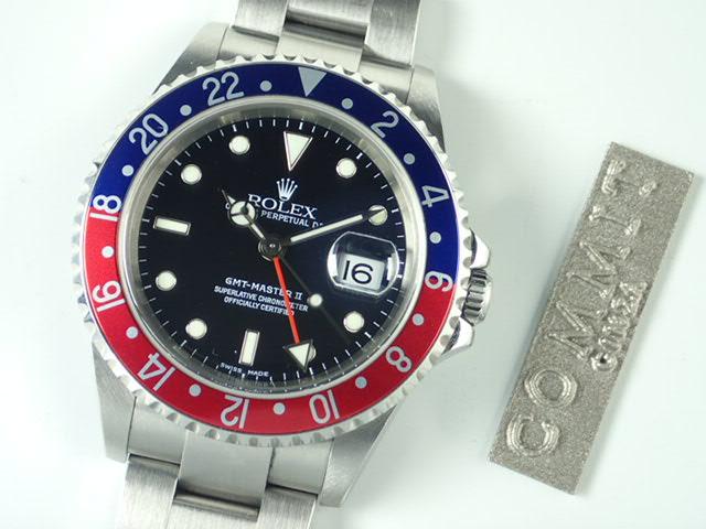ロレックス GMTマスターⅡ 赤青ベゼル F番