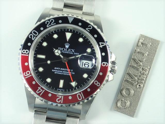 ロレックス GMTマスターⅡ 赤黒ベゼル U番