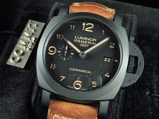 パネライ ルミノール 1950 3デイズ GMT オートマティック チェラミカ