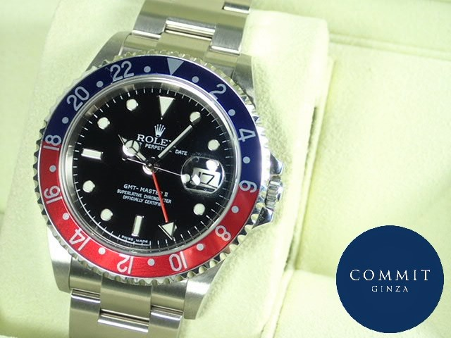 ロレックス GMTマスターⅡ 赤青ベゼル Z番