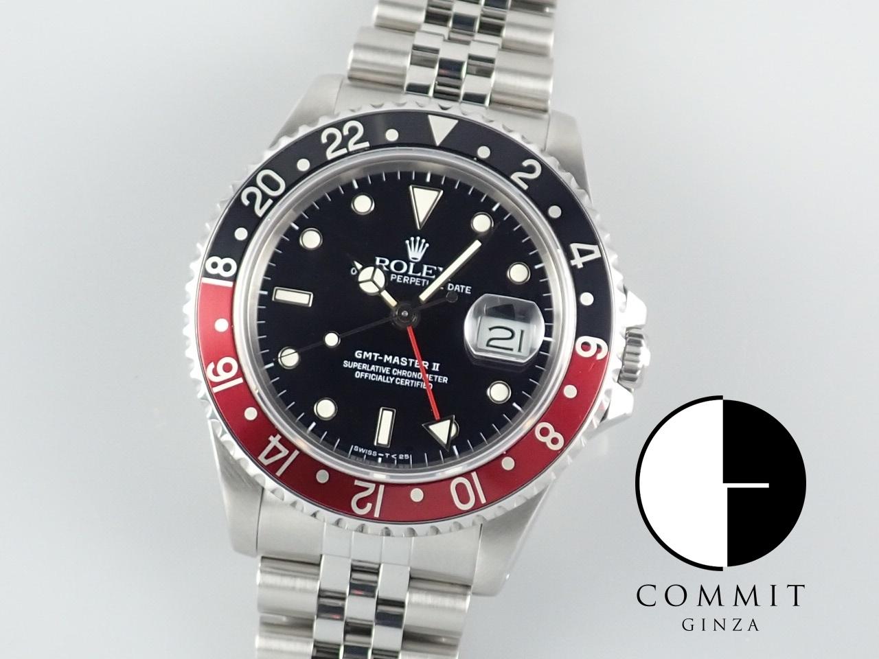 ロレックス GMTマスターⅡ 赤黒ベゼル L番≪保証書・箱・その他≫