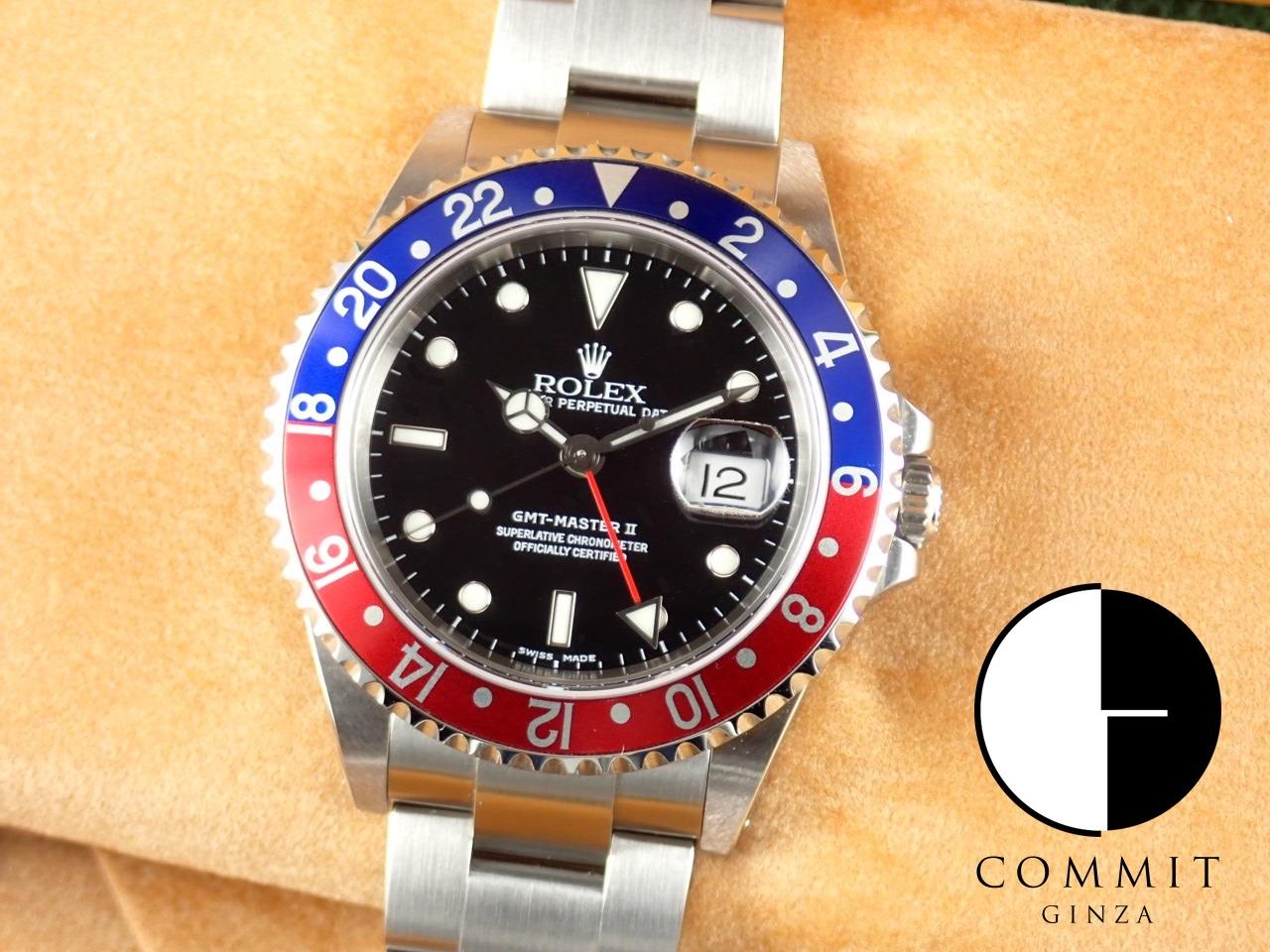 ロレックス GMTマスターⅡ 赤青ベゼル K番【未使用】≪保証書・箱・その他≫