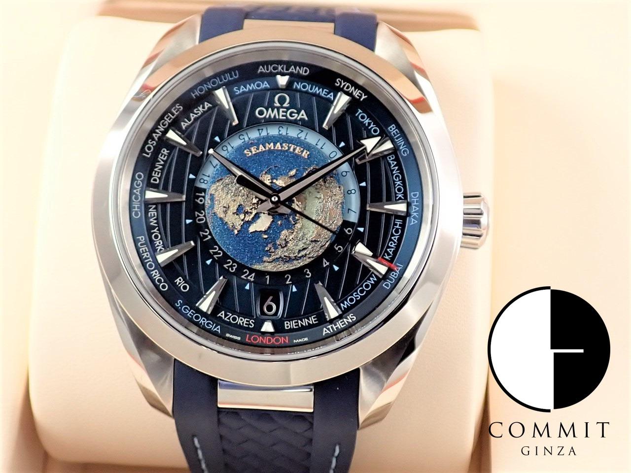 オメガ シーマスター アクアテラ 150M コーアクシャル マスタークロノメーター GMT ワールドタイマー43MM 【極美品】 ≪保証書・箱・その他≫