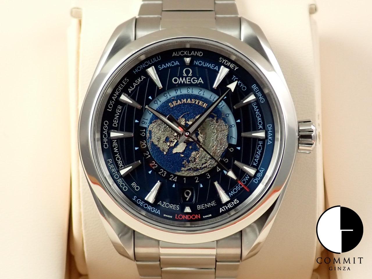 オメガ シーマスター アクアテラ 150M コーアクシャル マスタークロノメーター GMT ワールドタイマー43MM ≪保証書・箱・その他≫